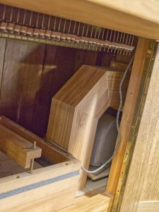Windlade der Tronsdorf Orgel