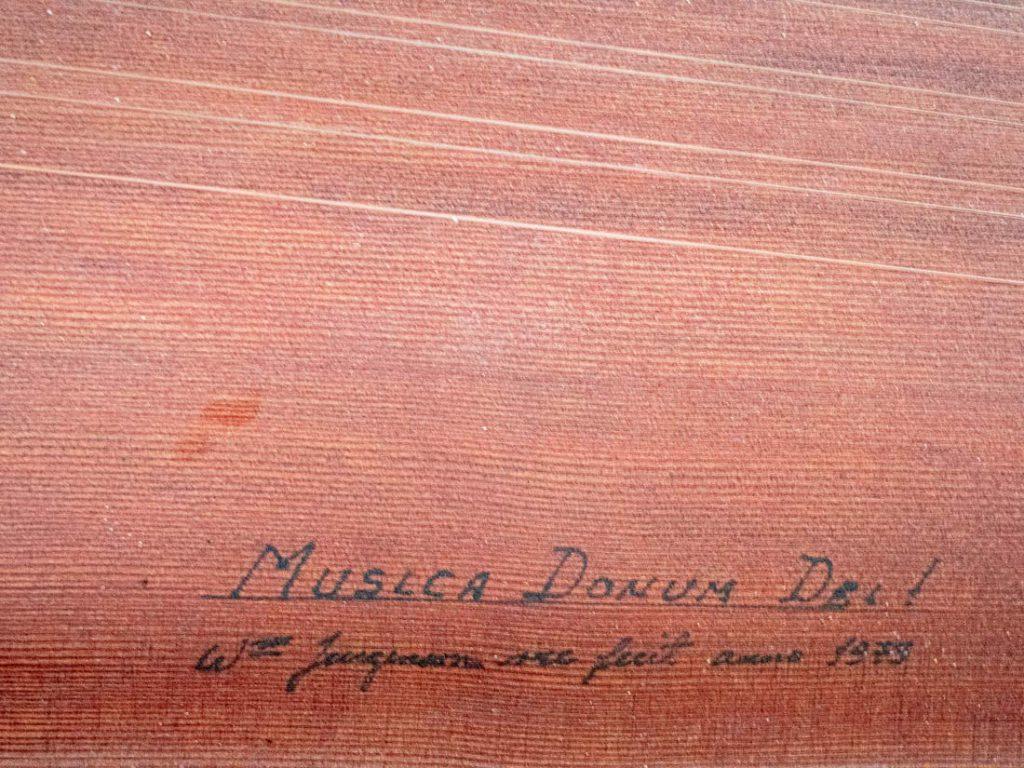 Inschrift vom Virginal