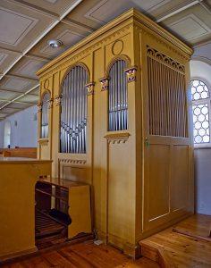 Prospekt der Orgel von Ohnden
